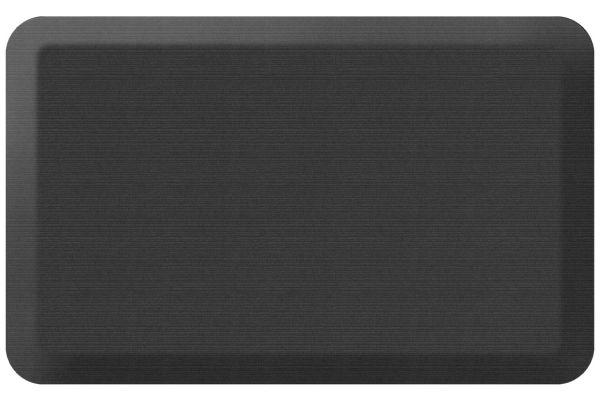 Large image of GelPro NewLife Designer Comfort 20x32 Grasscloth Charcoal Kitchen Mat - 106-23-2032-4