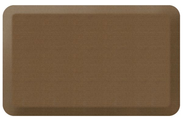 GelPro NewLife Designer Comfort 20x32 Grasscloth Khaki Kitchen Mat - 106-23-2032-5