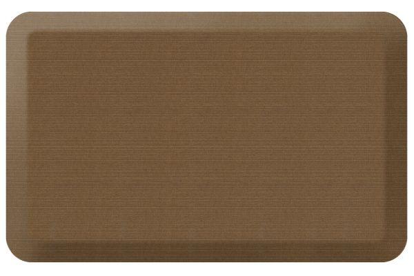 Large image of GelPro NewLife Designer Comfort 20x32 Grasscloth Khaki Kitchen Mat - 106-23-2032-5