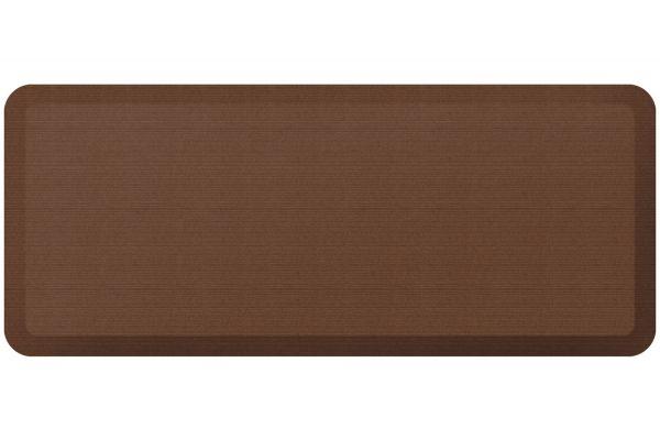Large image of GelPro NewLife Designer Comfort 20x48 Grasscloth Java Kitchen Mat - 106-23-2048-1