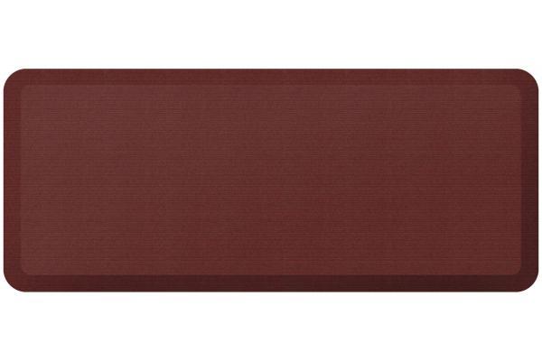 Large image of GelPro NewLife Designer Comfort 20x48 Grasscloth Crimson Kitchen Mat - 106-23-2048-2