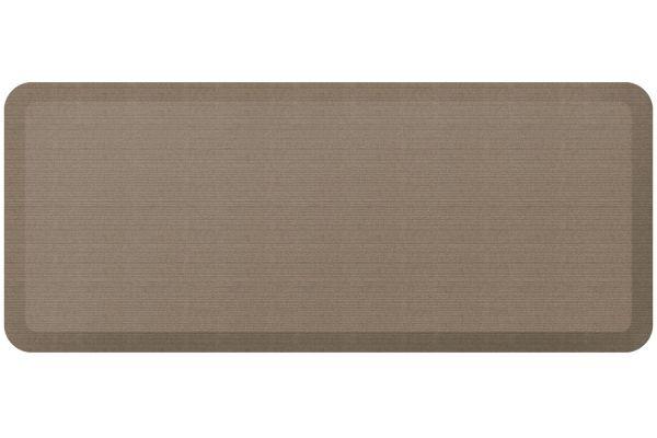 Large image of GelPro NewLife Designer Comfort 20x48 Grasscloth Pecan Kitchen Mat - 106-23-2048-3