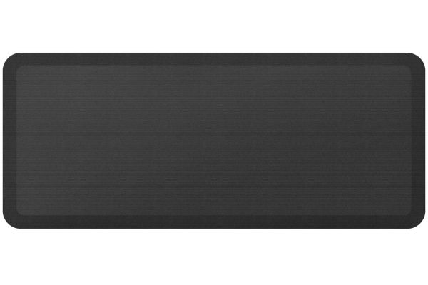 Large image of GelPro NewLife Designer Comfort 20x48 Grasscloth Charcoal Kitchen Mat - 106-23-2048-4