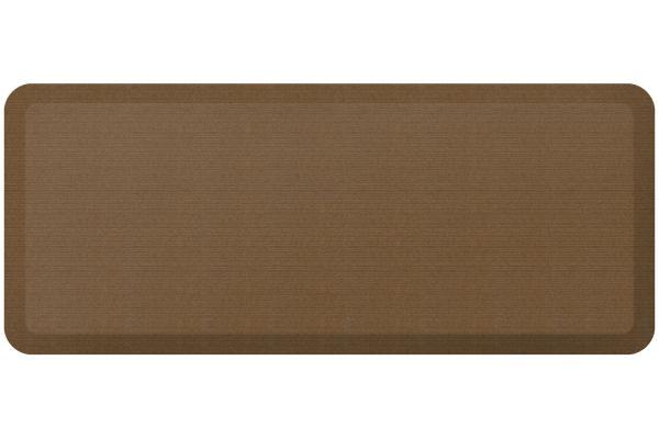 Large image of GelPro NewLife Designer Comfort 20x48 Grasscloth Khaki Kitchen Mat - 106-23-2048-5