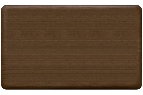 Large image of GelPro NewLife Designer Comfort 18x30 Grasscloth Java Kitchen Mat - 108-23-1830-1