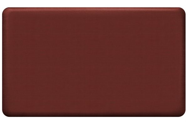 Large image of GelPro NewLife Designer Comfort 18x30 Grasscloth Crimson Kitchen Mat - 108-23-1830-2