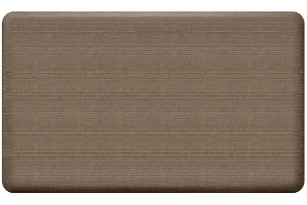 Large image of GelPro NewLife Designer Comfort 18x30 Grasscloth Pecan Kitchen Mat - 108-23-1830-3