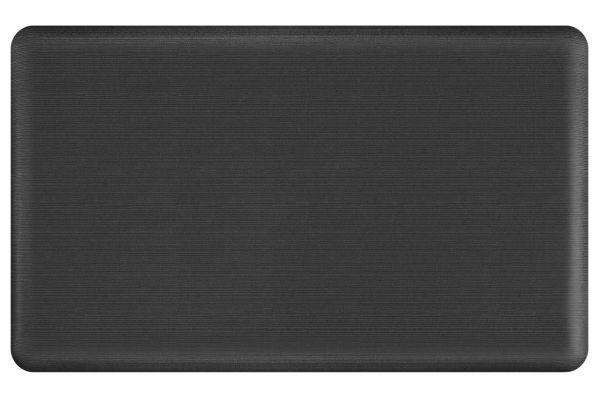Large image of GelPro NewLife Designer Comfort 18x30 Grasscloth Charcoal Kitchen Mat - 108-23-1830-4
