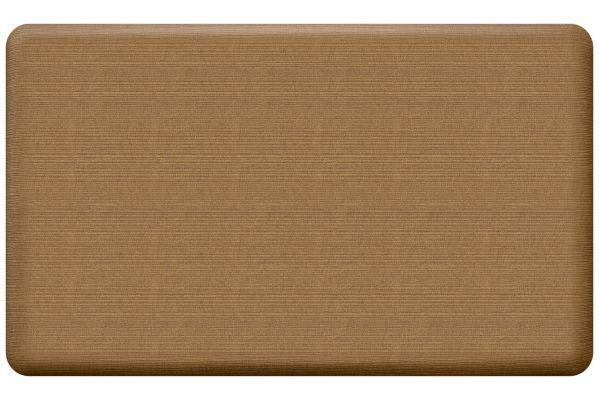 Large image of GelPro NewLife Designer Comfort 18x30 Grasscloth Khaki Kitchen Mat - 108-23-1830-5