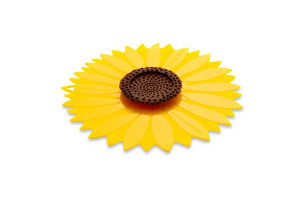 "Large image of Charles Viancin 6"" Sunflower Air-Tight Silicone Lid - 1124"