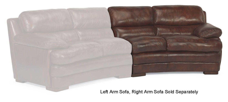 Flexsteel Dylan Brown Leather Left Arm Conversation Sofa 1127 325 908 72
