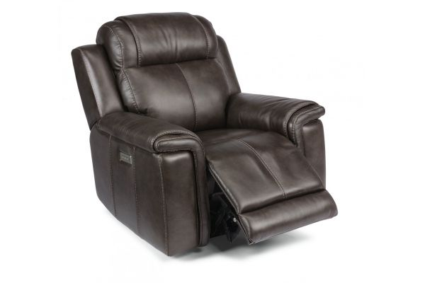 Large image of Flexsteel Kingsley Leather Power Recliner With Power Headrest - 1128-50PH-295-02