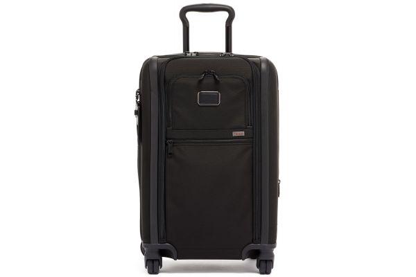 Large image of TUMI Alpha 3 Black International Dual Access 4 Wheeled Carry-On - 117160-1041