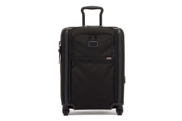 Large image of TUMI Alpha 3 Black Continental Dual Access 4 Wheeled Carry-On - 117161-1041