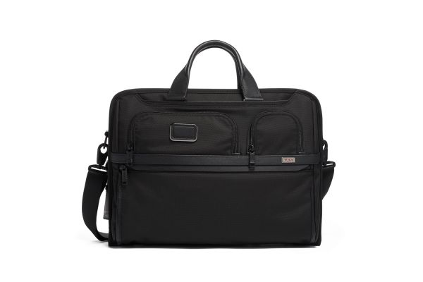 Large image of TUMI Alpha 3 Black Compact Large Screen Laptop Brief - 1173021041