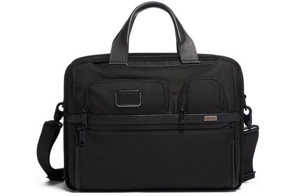 Large image of TUMI Alpha 3 Black T-Pass Expandable Laptop Brief - 1173061041