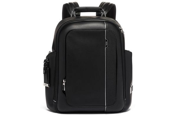 Large image of TUMI Arrive Black Leather Larson Backpack - 1173351041