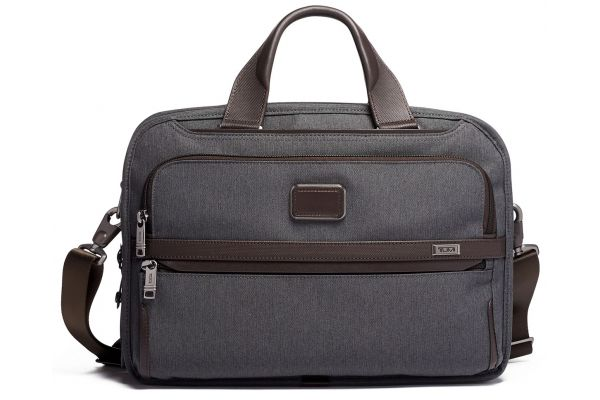 Large image of TUMI Alpha 3 Anthracite Triple Compartment Brief - 1173411009