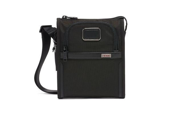 Large image of TUMI Alpha 3 Black Pocket Bag Small Crossbody - 1173451041