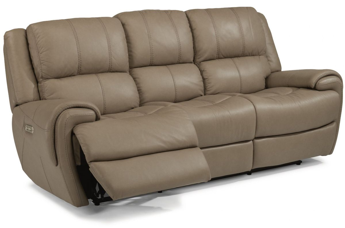 Awesome Flexsteel Nance Leather Power Reclining Sofa With Power Headrest Squirreltailoven Fun Painted Chair Ideas Images Squirreltailovenorg