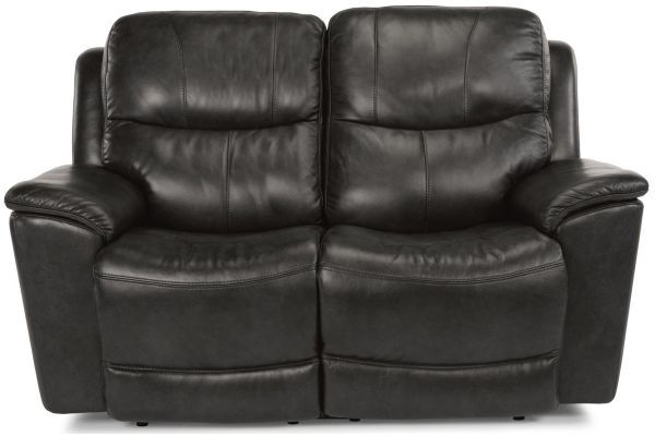 Large image of Flexsteel Cade Leather Power Reclining Loveseat With Power Headrests & Lumbar - 1183-60PH-637-00