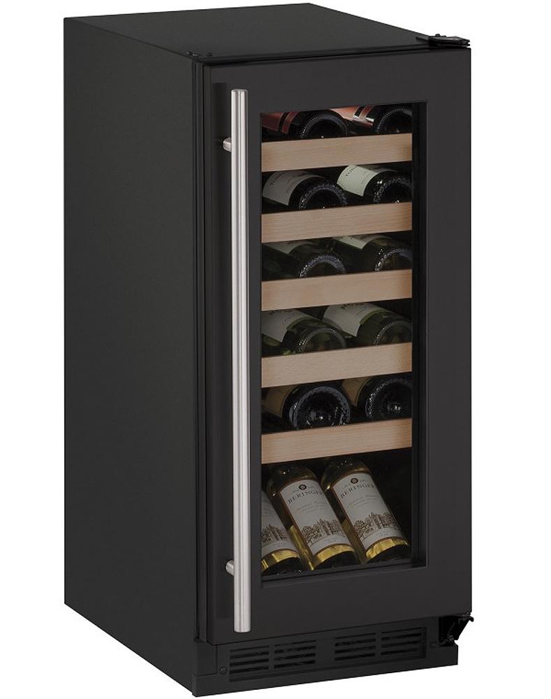 U Line 15 Black Wine Captain Cooler U 1215wcb 00b
