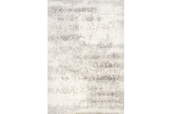 "Large image of Kalora Intrigue 5'3"" X 7'7"" Grey Distressed Damask Rug - 12173/910 160230"