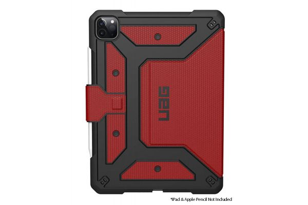 "Large image of Urban Armor Gear Magma Red Metropolis iPad Pro 11"" Case (2nd Gen, 2020) - 122076119494"