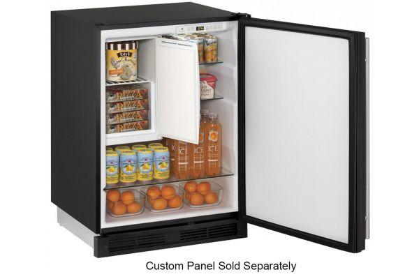 "Large image of U-Line 24"" Integrated Undercounter Compact Combo Refrigerator - U-1224RFINT-00B"