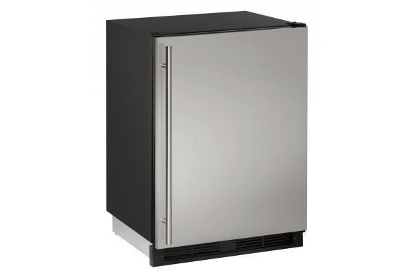 "Large image of U-line 24"" Stainless Steel 1000 Series Combo Compact Refrigerator - U-1224RFS-00B"