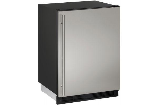 "U-line 24"" Stainless Steel Undercounter Compact Refrigerator - U-1224RS-00B"