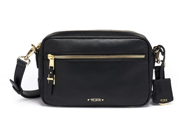 Large image of TUMI Voyageur Florence Black Crossbody Leather - 125094-1041