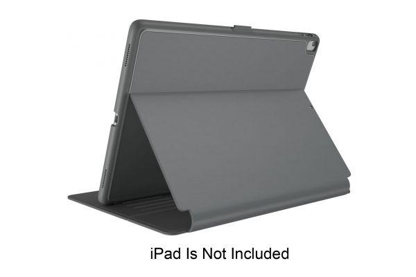 Large image of Speck Balance Folio Stormy Grey/Charcoal Grey 10.5-Inch iPad Air (2019) / iPad Pro (2017) Case - 1280455999