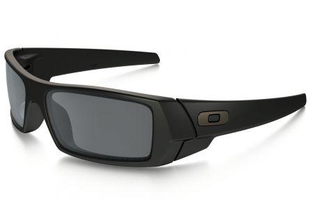 Oakley Polarized Gascan Matte Black Wrap Sunglasses - OO9014 12-856 61