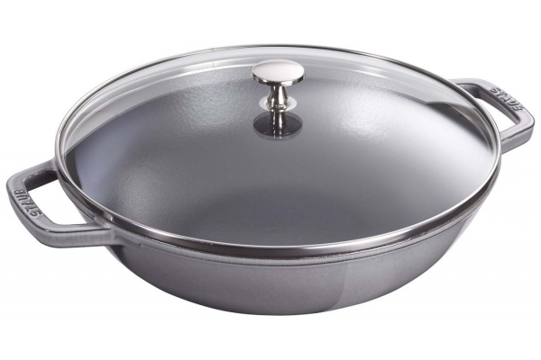 Large image of Zwilling J.A. Henckels Staub 4.5 Qt. Cast Iron Graphite Gray Perfect Pan - 1312918