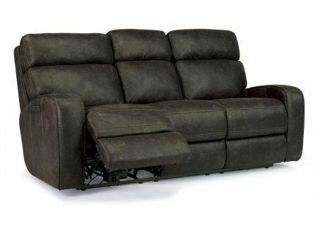 Flexsteel Tomkins Fabric Power Reclining Sofa With Power Headrest - 1326-62PH-167-02