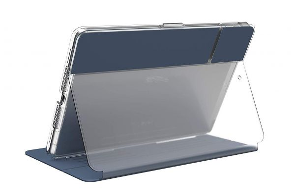 Large image of Speck Balance Folio Marine Blue/Clear 10.2-inch iPad Case (2019) - 1335377399