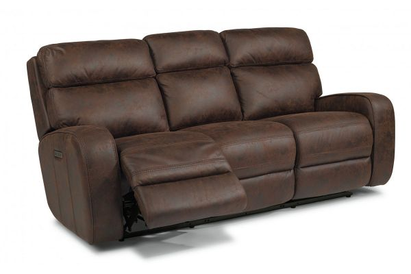 Large image of Flexsteel Tomkins Park Fabric Power Reclining Sofa With Power Headrests - 1336-62PH-167-70