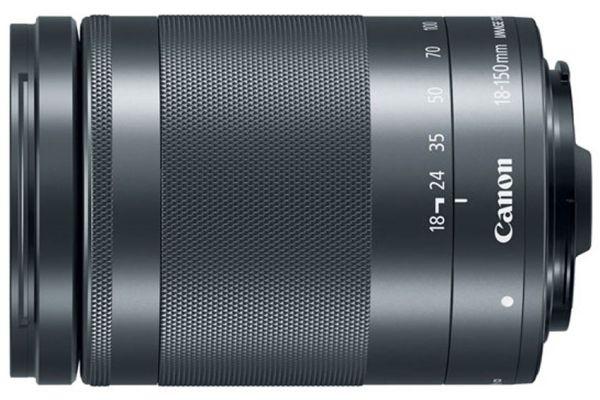 Large image of Canon EF-M 18-150mm f/3.5-6.3 IS STM Graphite Camera Lens - 1375C002