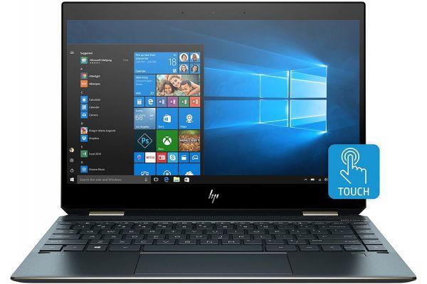 "Large image of HP Spectre x360 Blue 13.3"" Notebook Computer, Intel Core i7-8565U, 16GB RAM, 512GB SSD - 4WT85UA#ABA"
