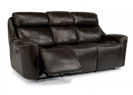 Flexsteel Mystic Leather Power Reclining Sofa With Power Headrests - 1471-62PH-014-26