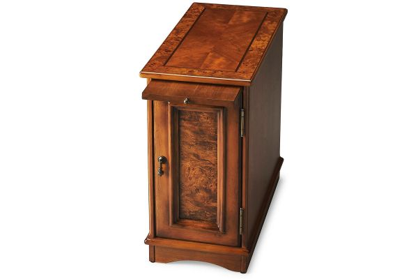 Large image of Butler Specialty Company Harling Olive Ash Burl Chairside Chest - 1476101