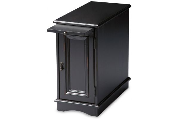Large image of Butler Specialty Company Harling Black Licorice Chairside Chest - 1476111