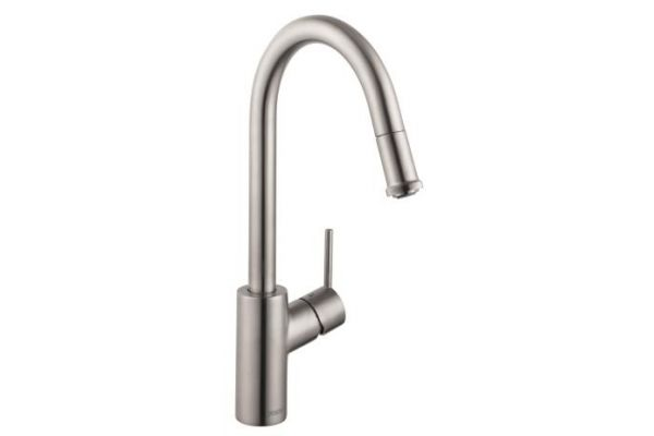 Hansgrohe Steel Optic Talis S 1-Spray HighArc Pull-Down Kitchen Faucet - 14872801