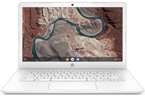 "Large image of HP Chromebook 14"" Snow White Notebook AMD A4-9120C 4GB RAM 32GB eMMC, AMD Radeon R4 Graphics - 14DB0030NR"