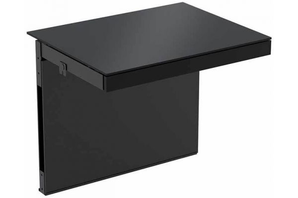Large image of BDI Semblance Black Shallow Desk - 15040-B