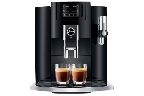 Large image of Jura E8 Piano Black Automatic Coffee Machine - 15270