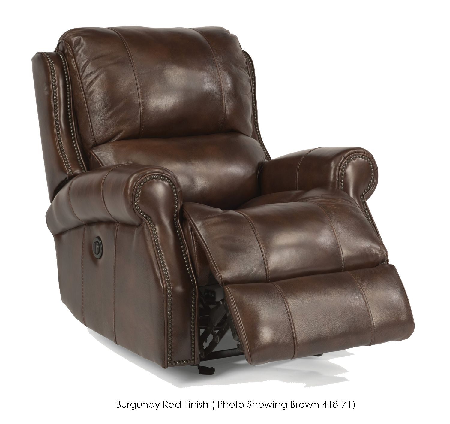 Flexsteel Miles Leather Power Gliding Recliner 1533 54p