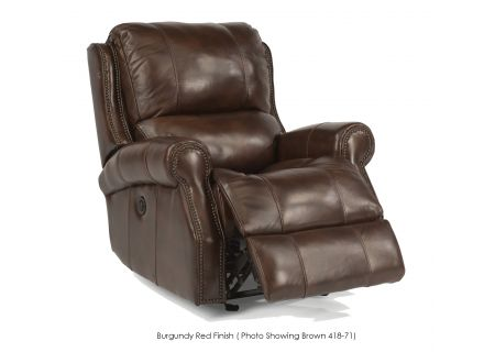 Flexsteel Miles Leather Power Gliding Recliner - 1533-54P-418-62