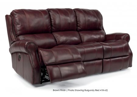 Flexsteel Miles Leather Power Reclining Sofa - 1533-62P-418-71